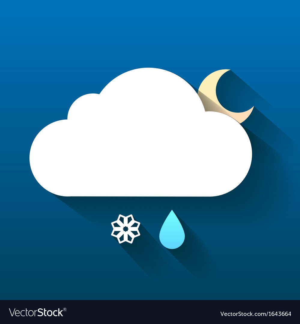 Night cloud snow flake and rain drop isolated on vector | Price: 1 Credit (USD $1)