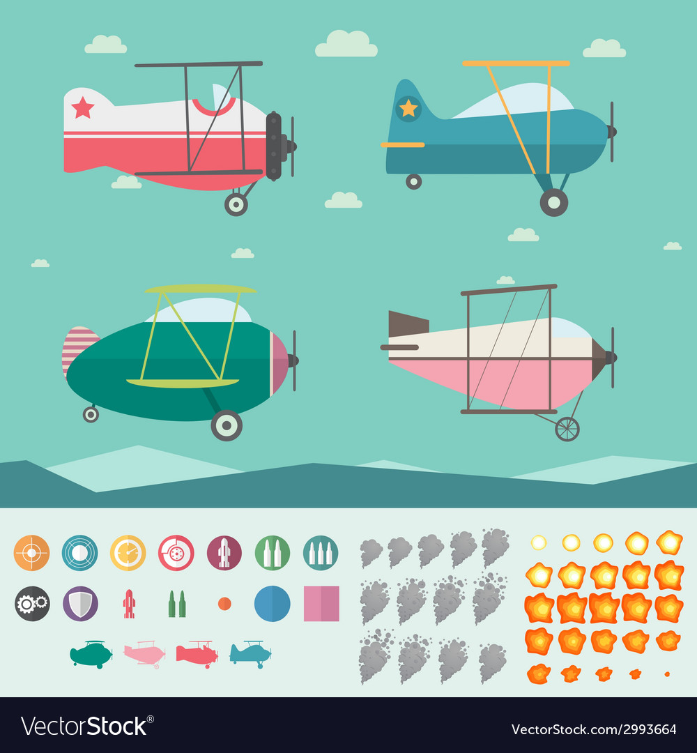 Plane game asset vector | Price: 1 Credit (USD $1)