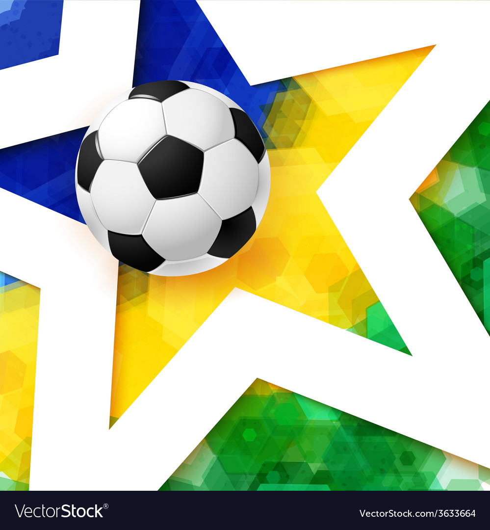 Soccer football poster mosaic background in brazil vector | Price: 1 Credit (USD $1)