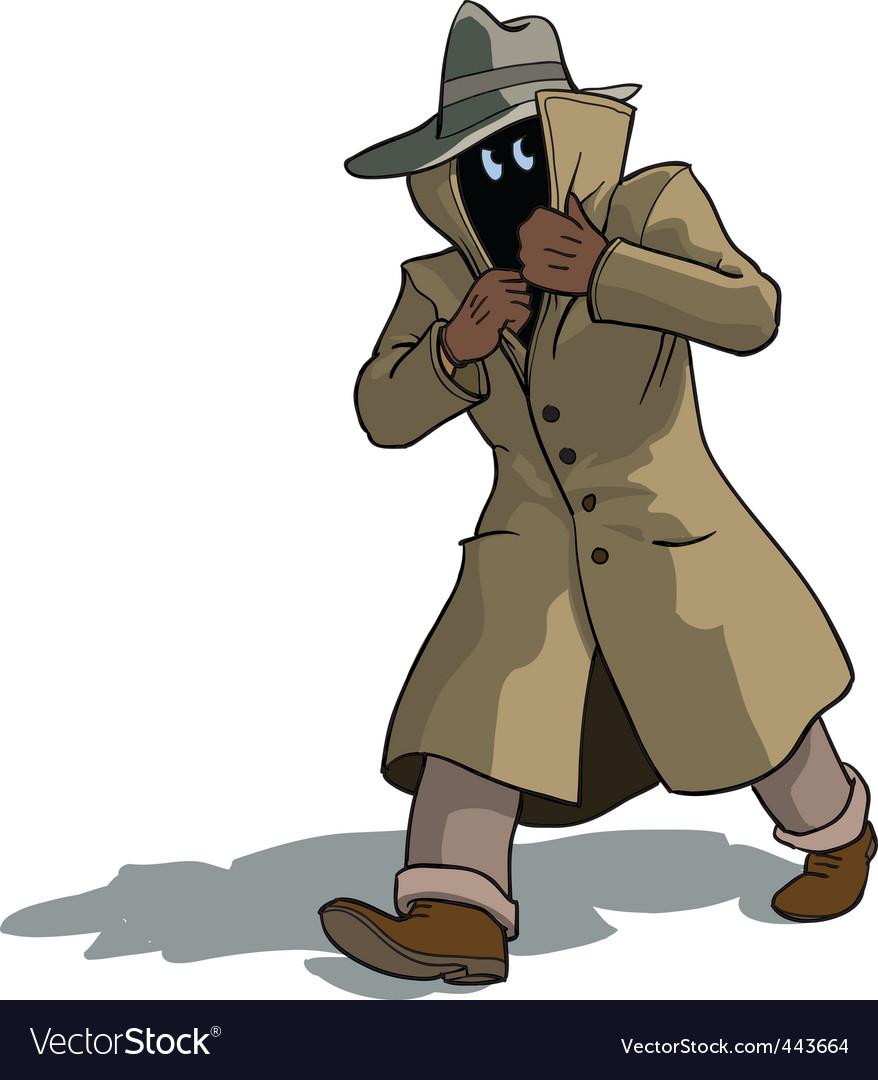 Suspicious man vector | Price: 3 Credit (USD $3)