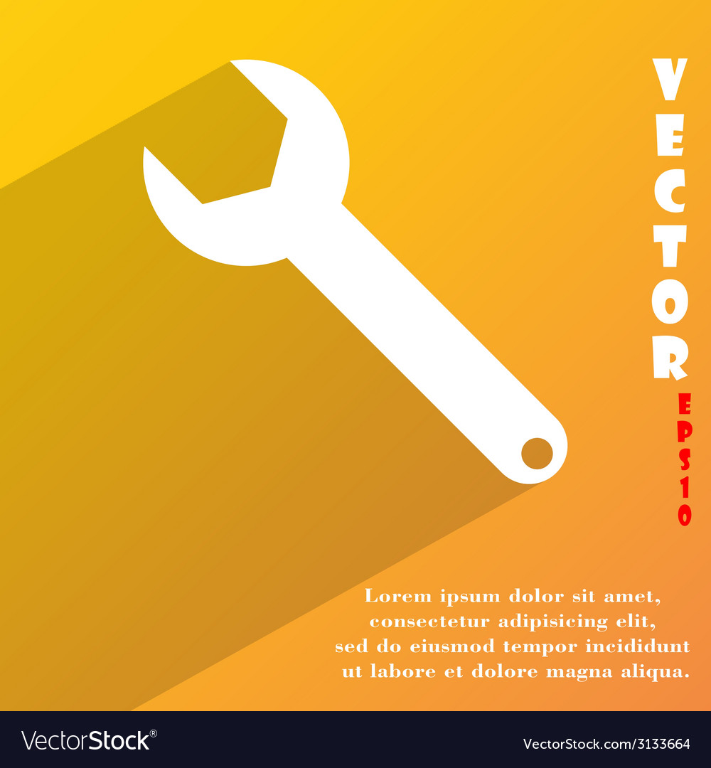 Wrench key icon symbol flat modern web design with vector | Price: 1 Credit (USD $1)