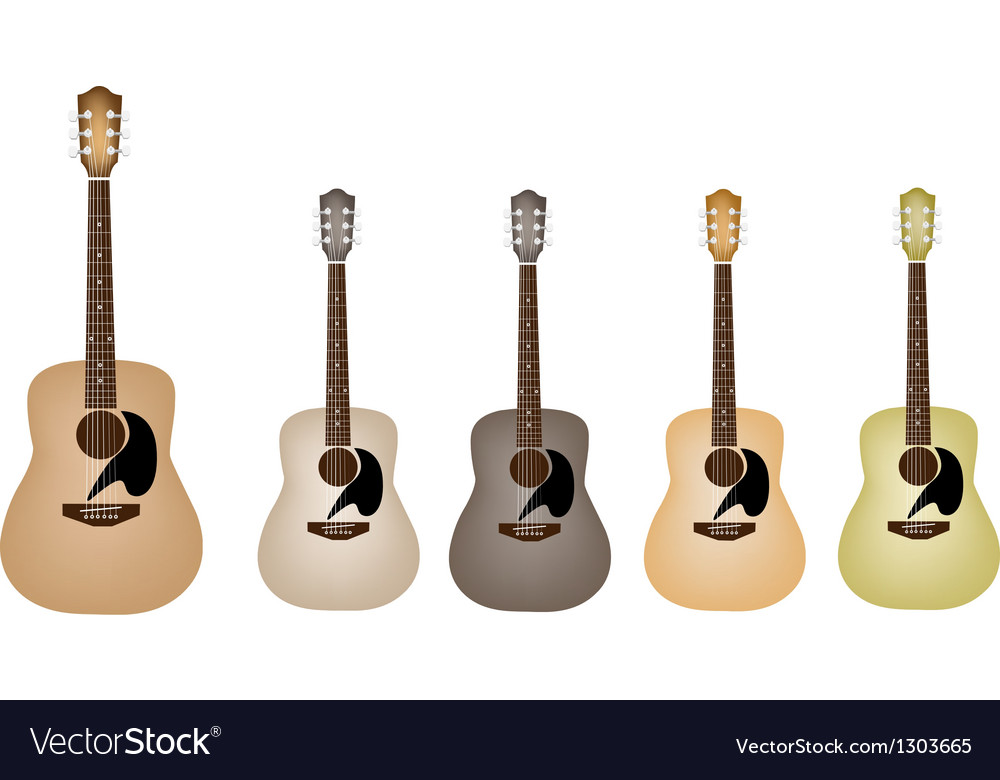 Beautiful vintage acoustic guitars vector | Price: 1 Credit (USD $1)