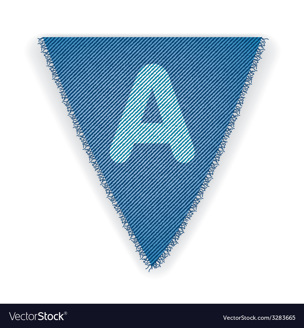 Bunting flag letter a vector | Price: 1 Credit (USD $1)