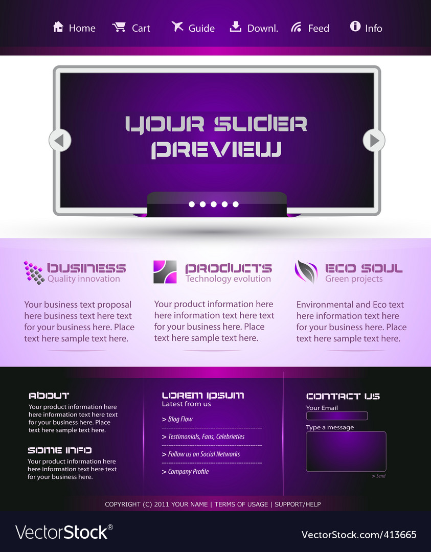 Business web template vector | Price: 3 Credit (USD $3)