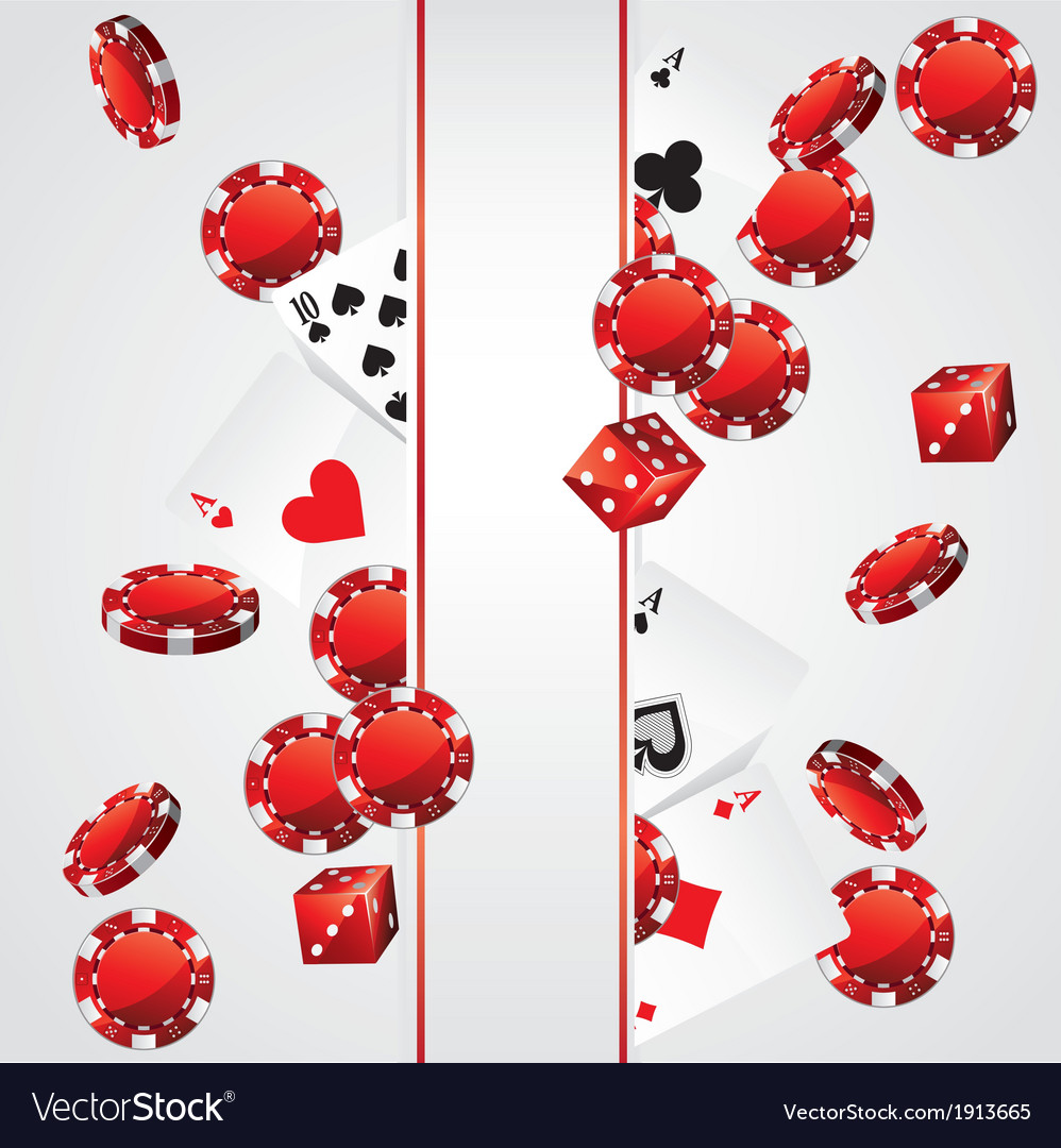 Cards chips casino poker background vector | Price: 1 Credit (USD $1)
