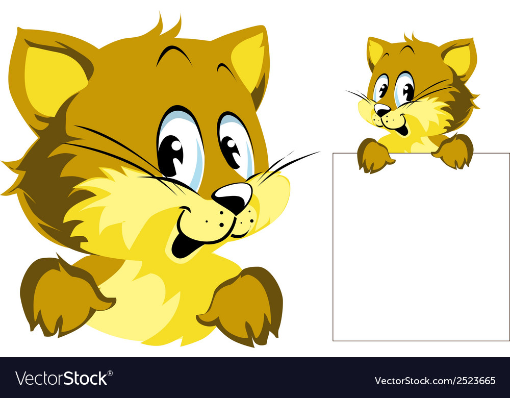 Cat peeping vector | Price: 1 Credit (USD $1)
