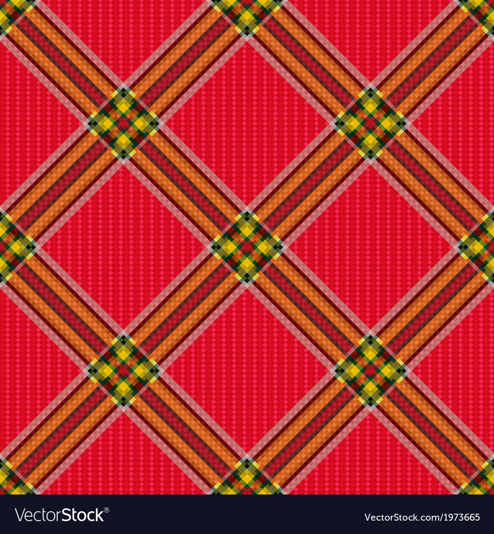 Checkered diagonal tartan fabric seamless pattern vector | Price: 1 Credit (USD $1)