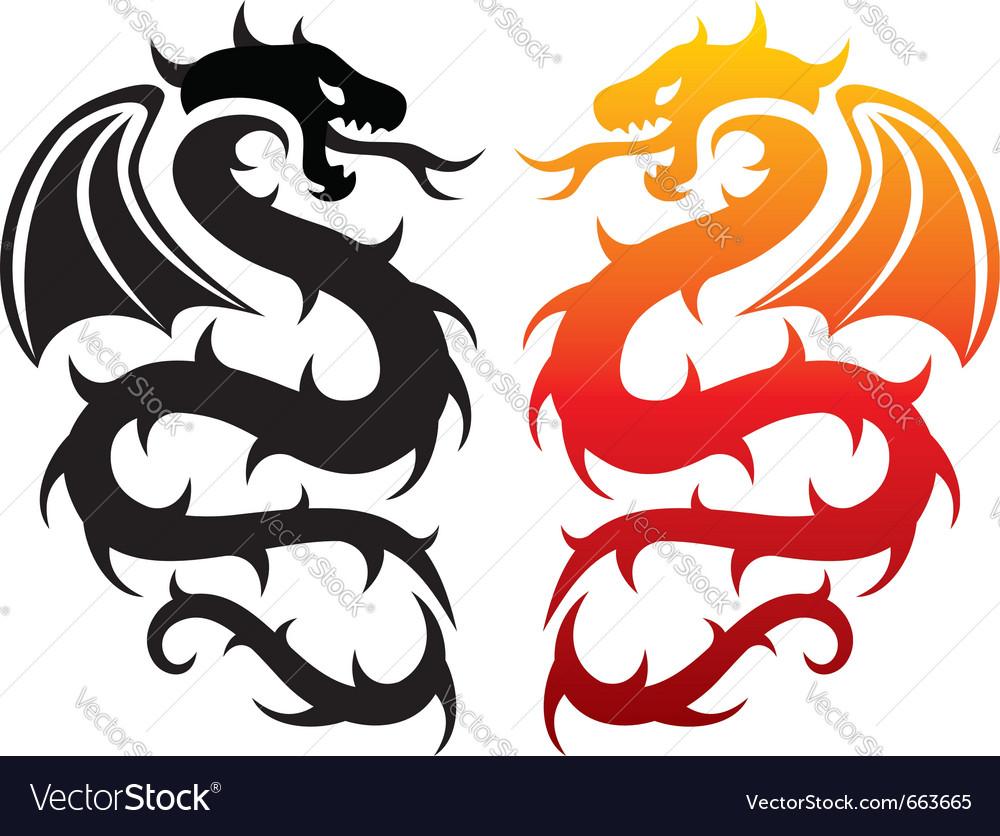 Dragons vector | Price: 1 Credit (USD $1)