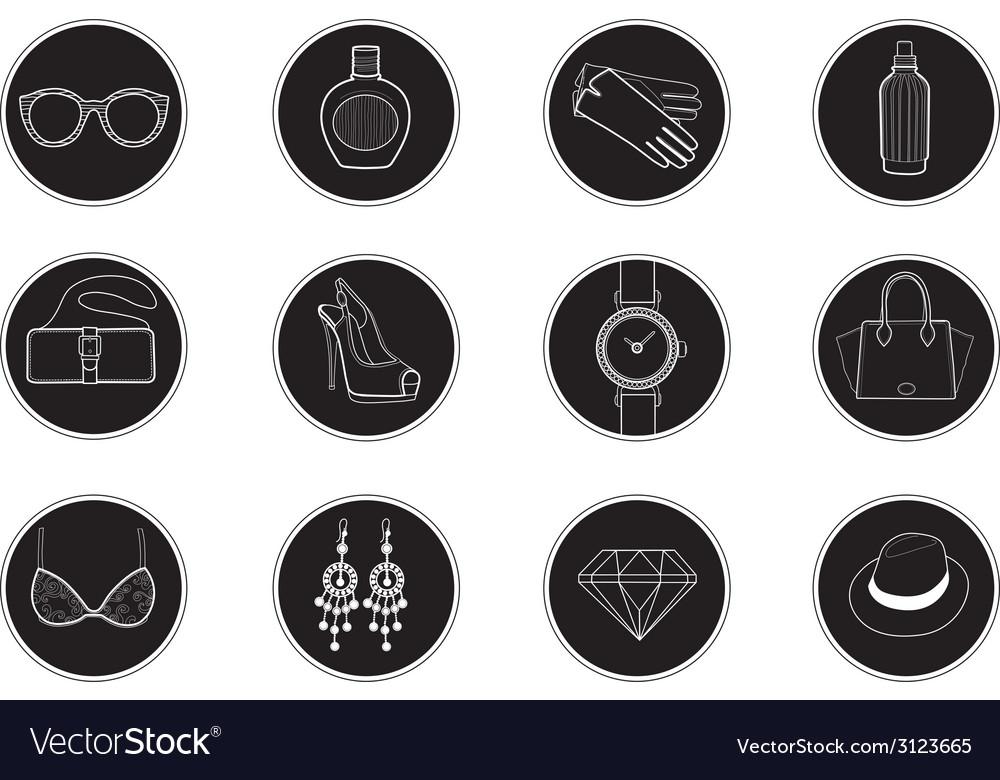 Fashion icons set 1 vector | Price: 1 Credit (USD $1)