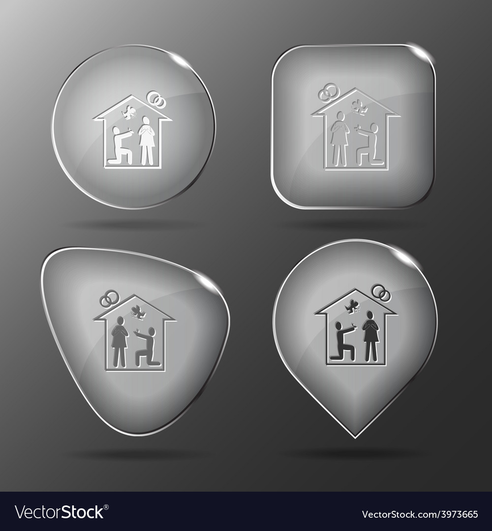 Home affiance glass buttons vector | Price: 1 Credit (USD $1)