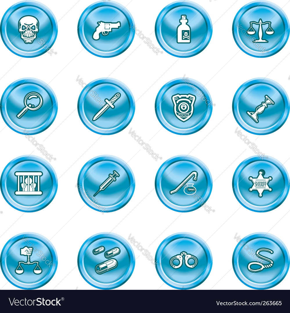 Police icons vector | Price: 1 Credit (USD $1)