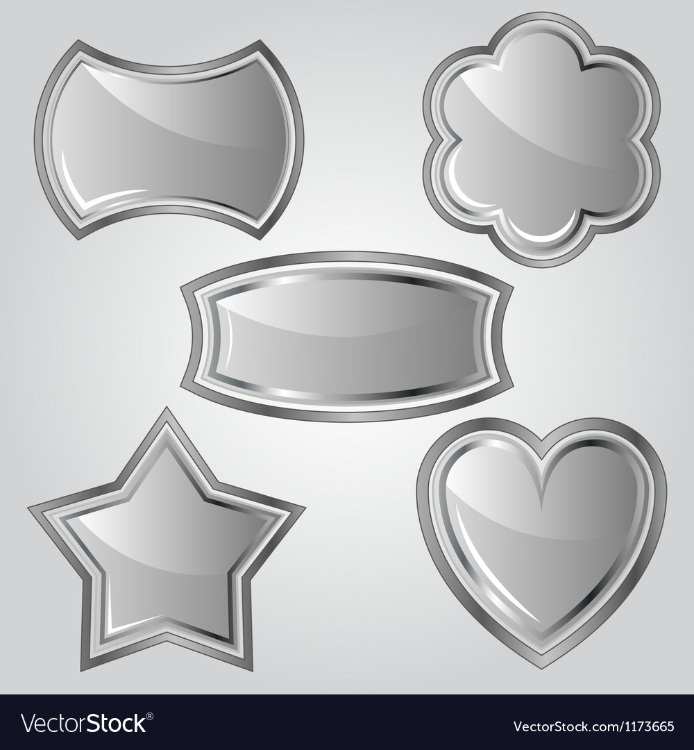 Set of metal labels vector | Price: 1 Credit (USD $1)