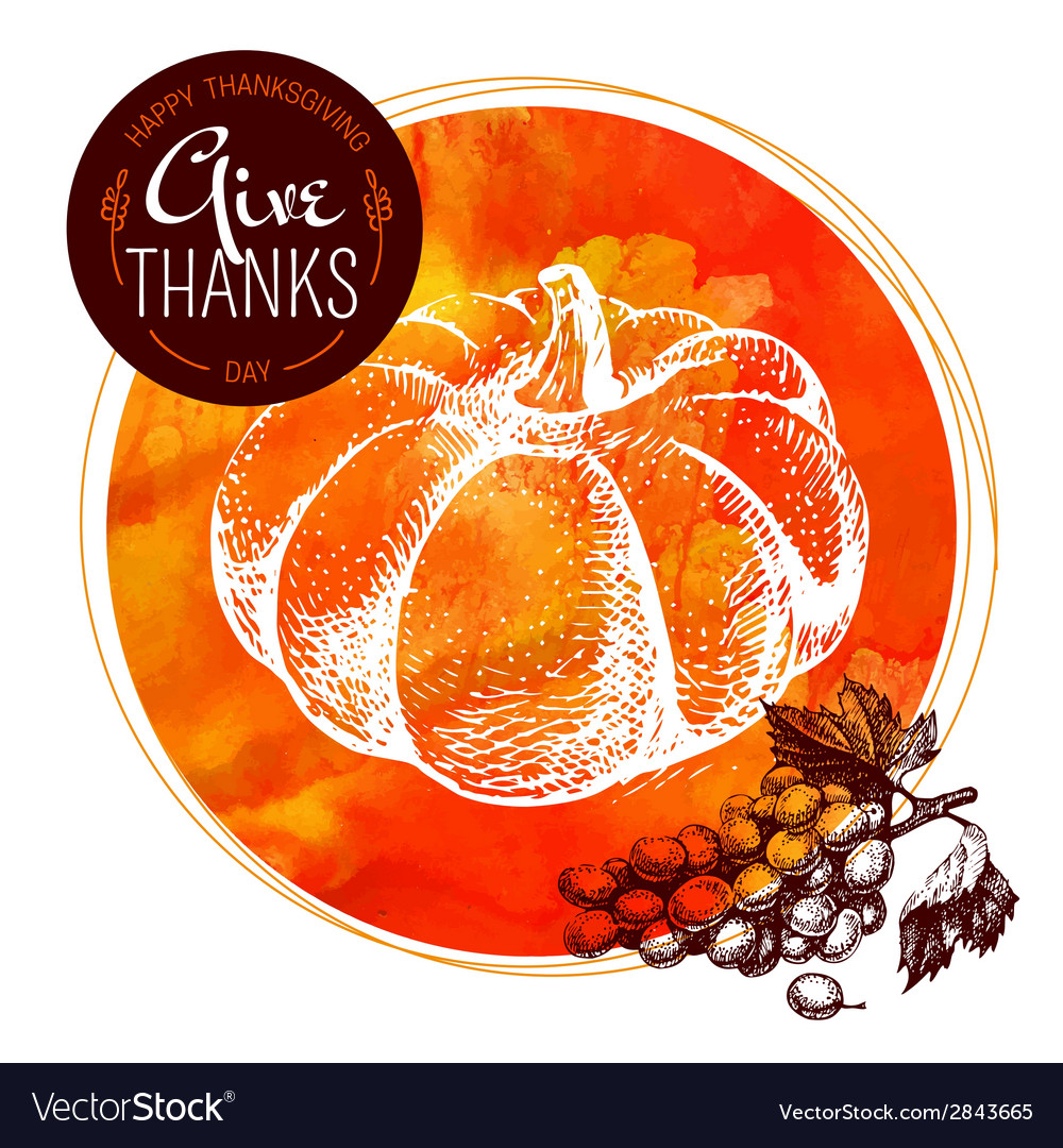 Thanksgiving day background typographic poster vector | Price: 1 Credit (USD $1)