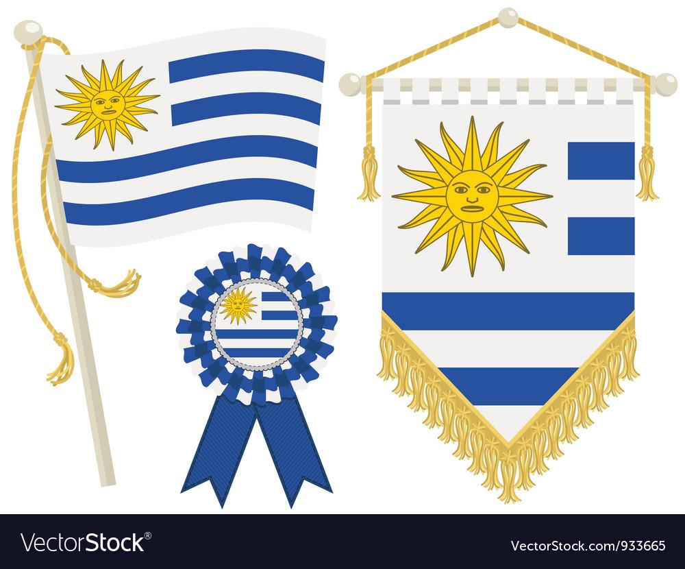 Uruguay flags vector   Price: 1 Credit (USD $1)