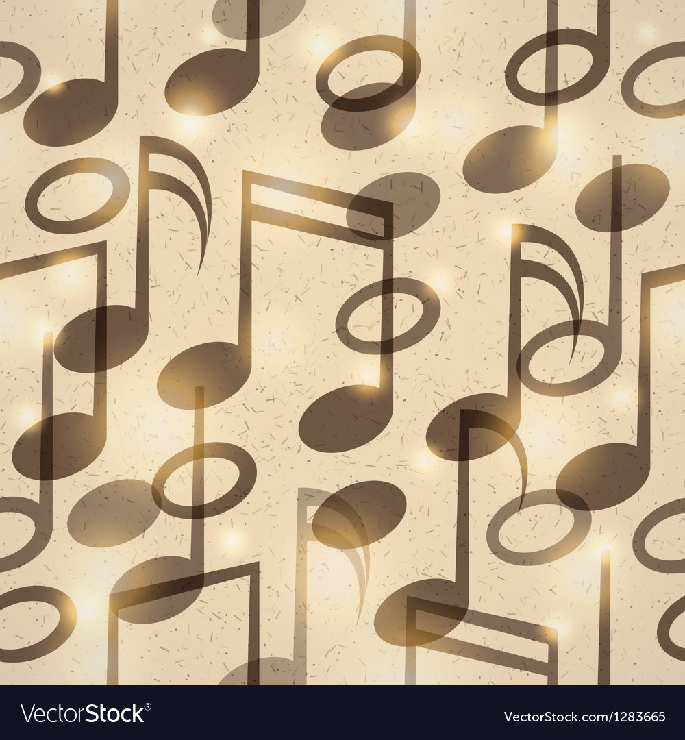 Vintage music pattern vector | Price: 1 Credit (USD $1)