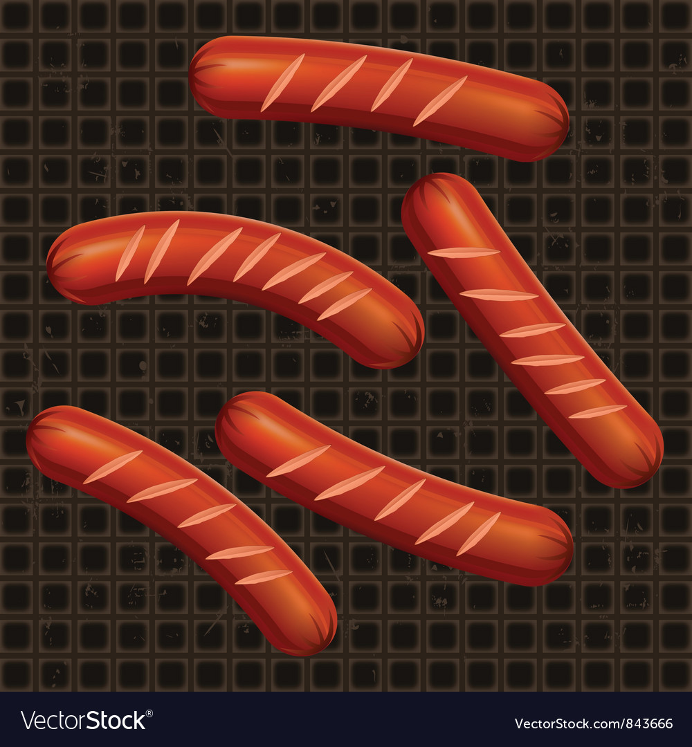 Breakfast sausage pan vector | Price: 1 Credit (USD $1)
