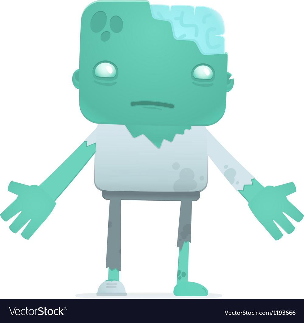 Funny cartoon zombie vector | Price: 3 Credit (USD $3)