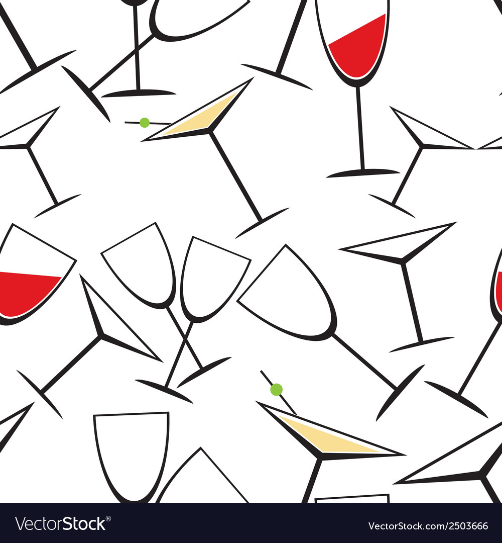Glass seamless pattern vector | Price: 1 Credit (USD $1)