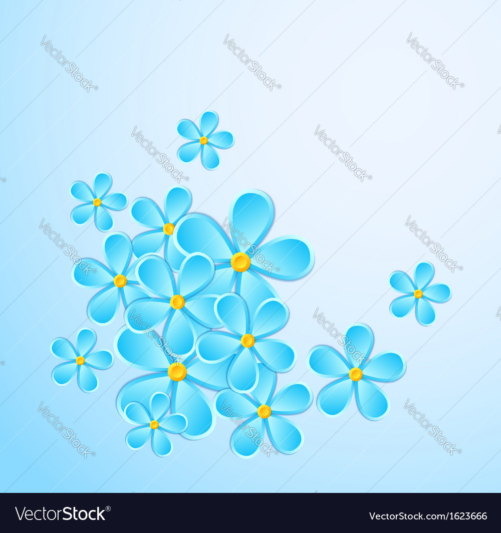 Greeting card with paper flower vector | Price: 1 Credit (USD $1)