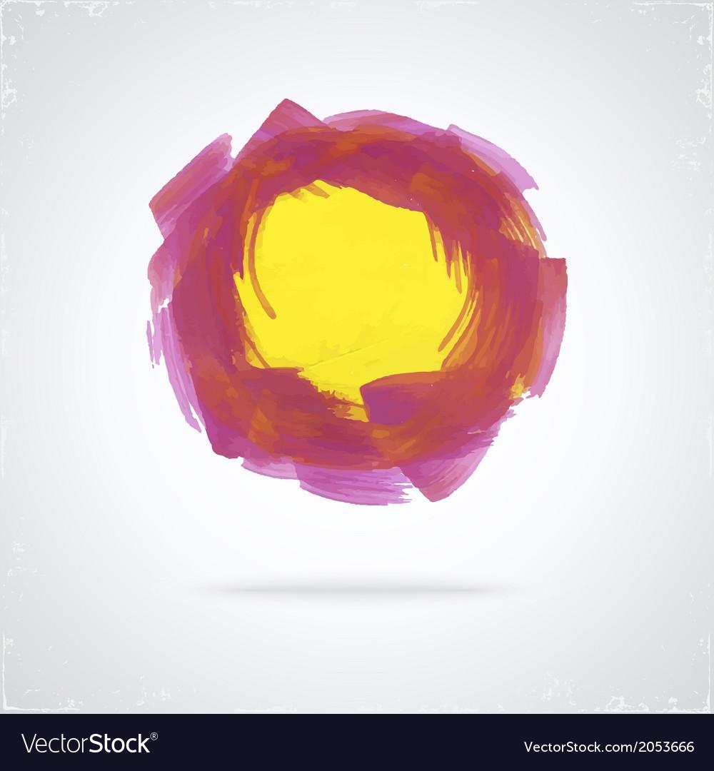 Grunge paint circle vector | Price: 1 Credit (USD $1)
