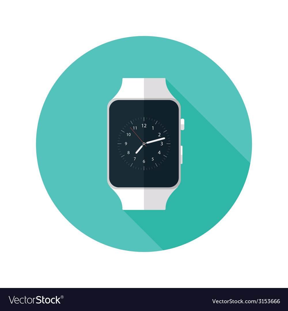 Light smart watch flat icon vector | Price: 1 Credit (USD $1)