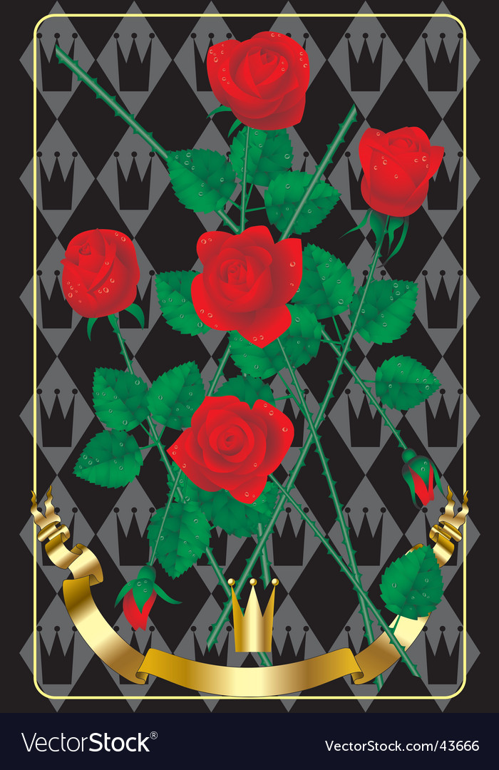 Red roses heraldry style background vector | Price: 1 Credit (USD $1)