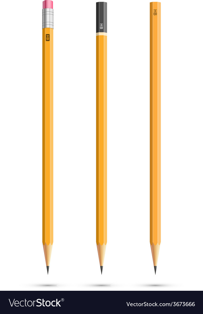 Three pencils vector | Price: 1 Credit (USD $1)