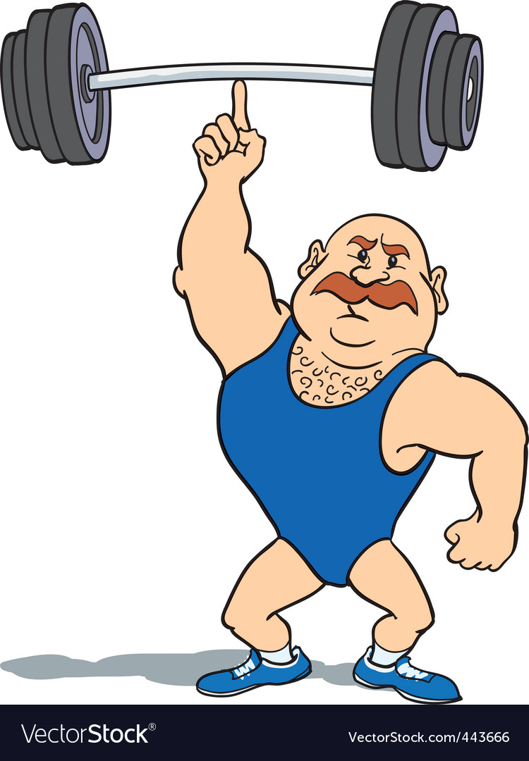 Weightlifter using finger vector | Price: 3 Credit (USD $3)