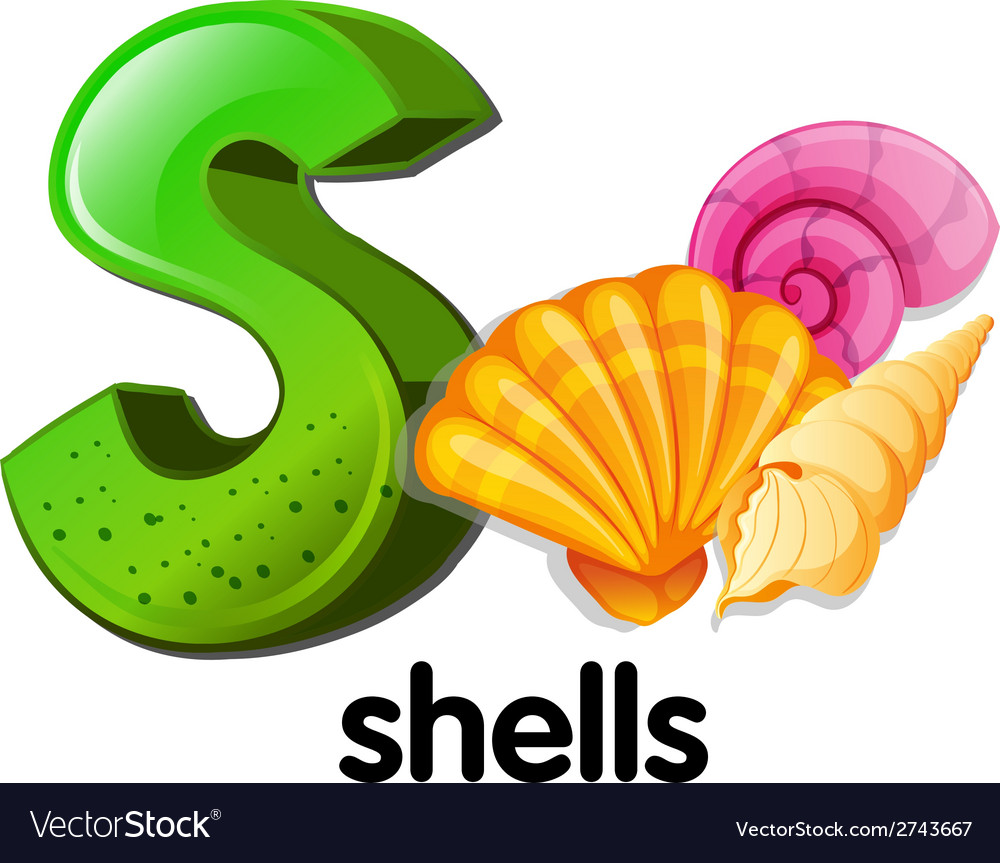 A letter s for shells vector | Price: 1 Credit (USD $1)