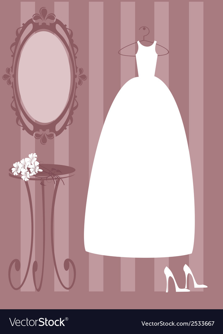 Bride dress vector | Price: 1 Credit (USD $1)
