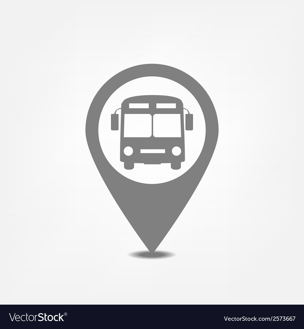 Bus stop pointer vector