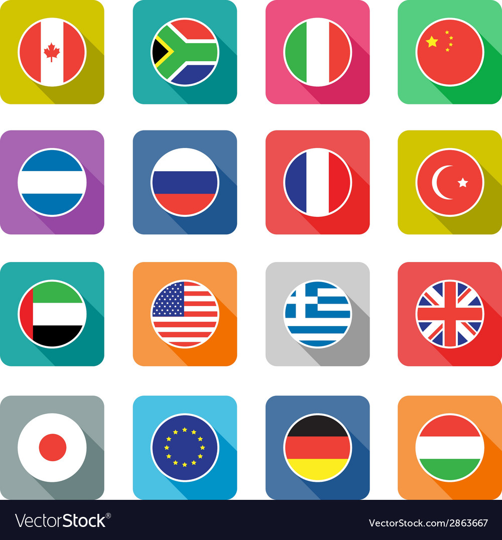 Flat world icons vector | Price: 1 Credit (USD $1)