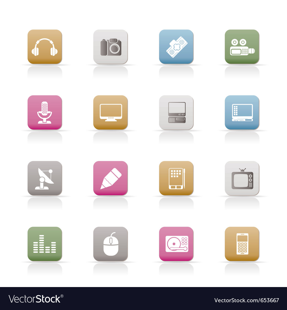 Media equipment icons vector | Price: 1 Credit (USD $1)