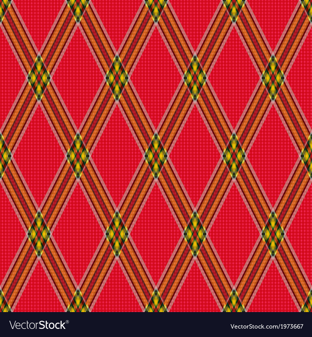 Rhombic tartan red fabric seamless texture vector | Price: 1 Credit (USD $1)