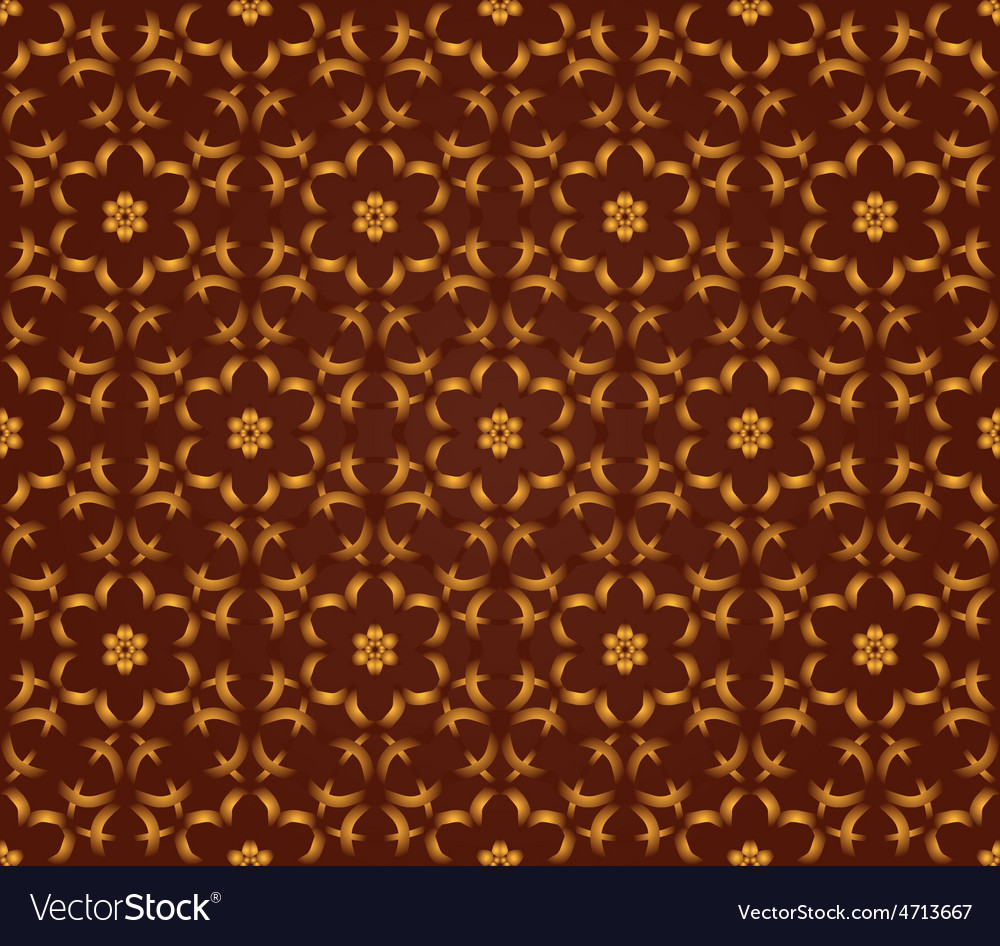 Seamless damask wallpaper vector | Price: 1 Credit (USD $1)