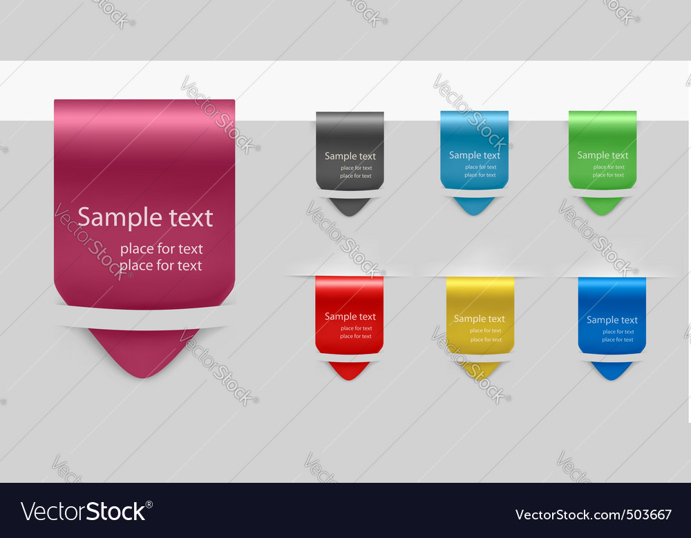 Set with seven tags vector | Price: 1 Credit (USD $1)