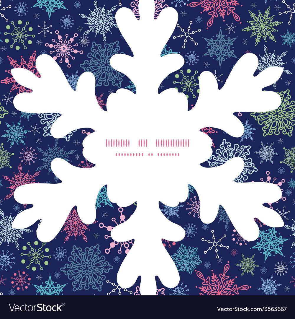 Snowflakes on night sky christmas snowflake vector   Price: 1 Credit (USD $1)