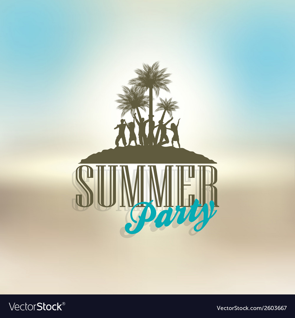Summer party background vector | Price: 1 Credit (USD $1)