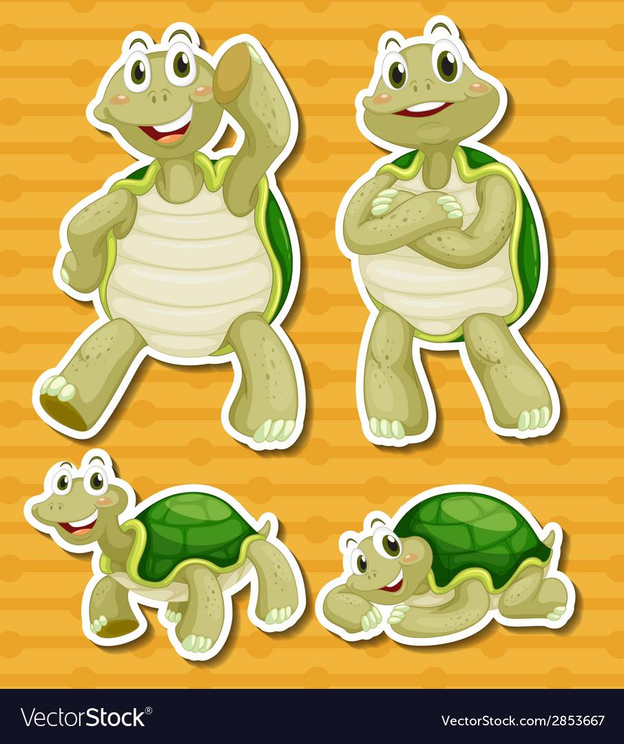 Turtle set vector | Price: 1 Credit (USD $1)