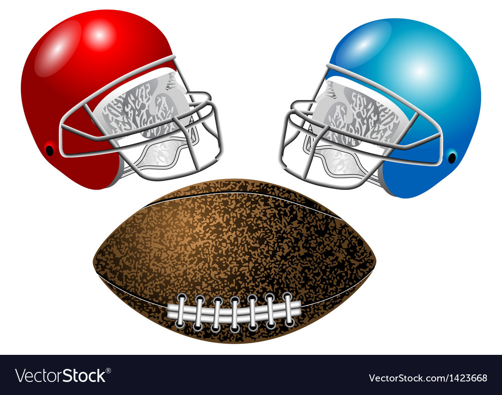American football helmet and ball vector | Price: 1 Credit (USD $1)