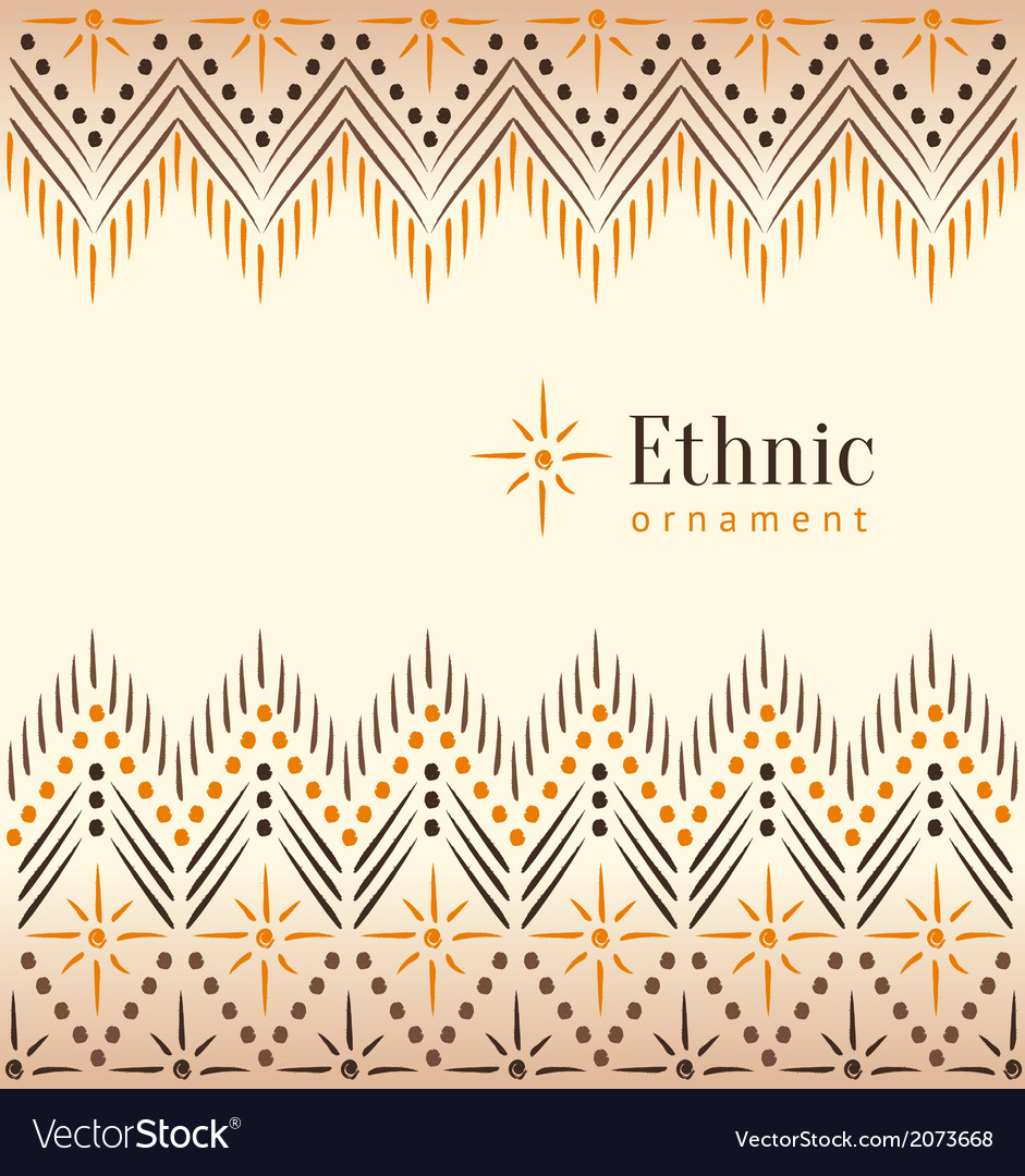 Beautiful vintage ethnic ornament background vector | Price: 1 Credit (USD $1)