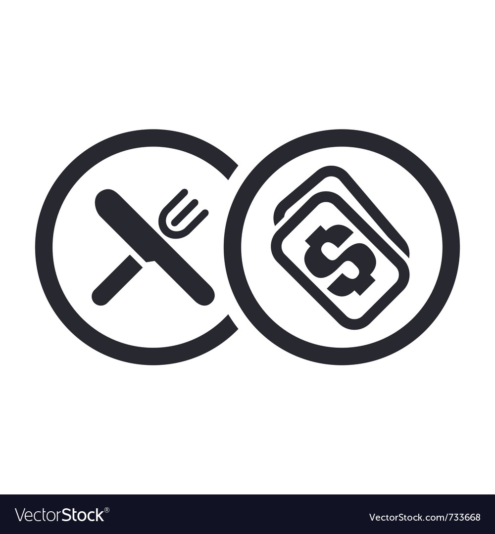 Food price icon vector | Price: 1 Credit (USD $1)