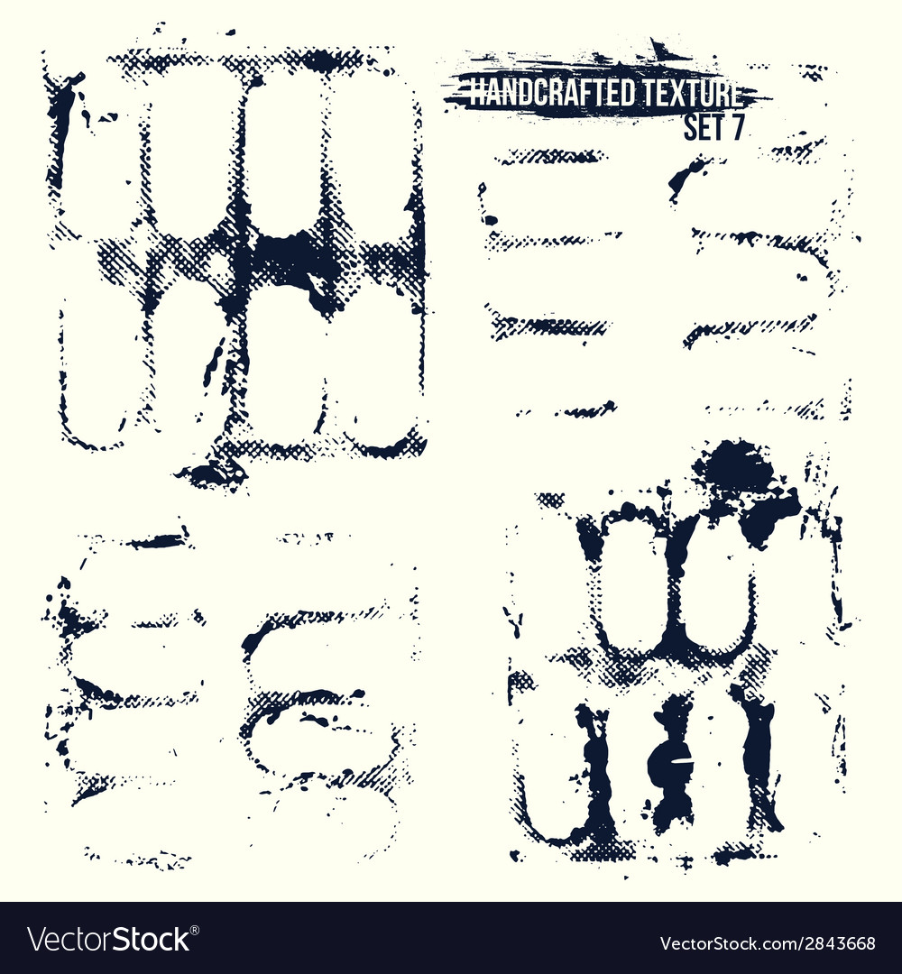 Handcrafted texture set vector | Price: 1 Credit (USD $1)