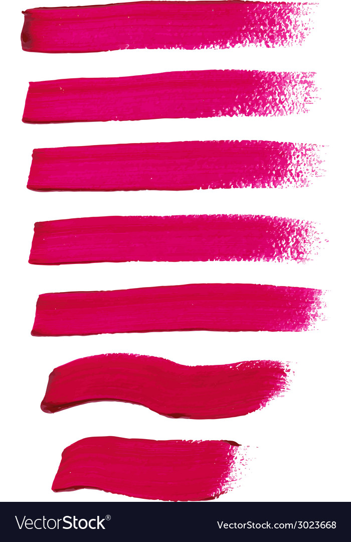 Magenta ink brush strokes vector | Price: 1 Credit (USD $1)
