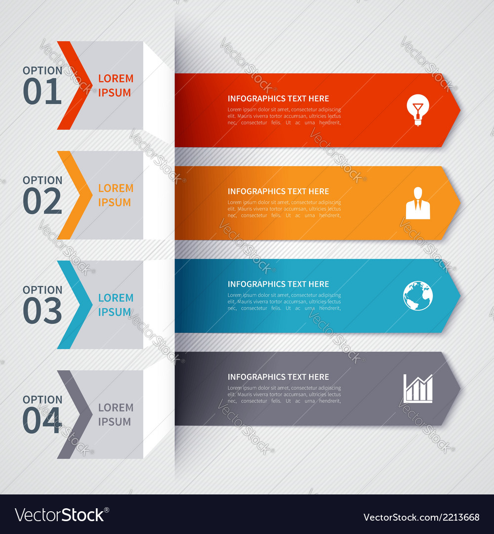 Modern minimalistic infographics banner vector | Price: 1 Credit (USD $1)