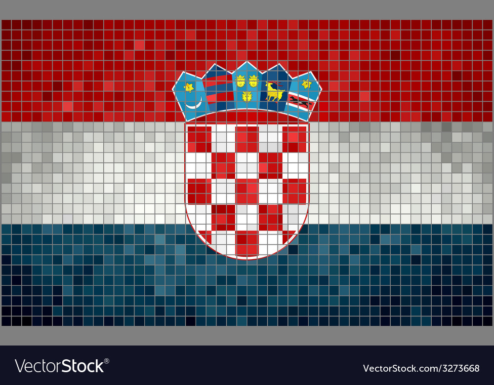 Mosaic flag of croatia vector | Price: 1 Credit (USD $1)