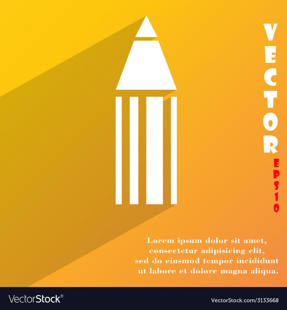Pencil icon symbol flat modern web design with vector | Price: 1 Credit (USD $1)