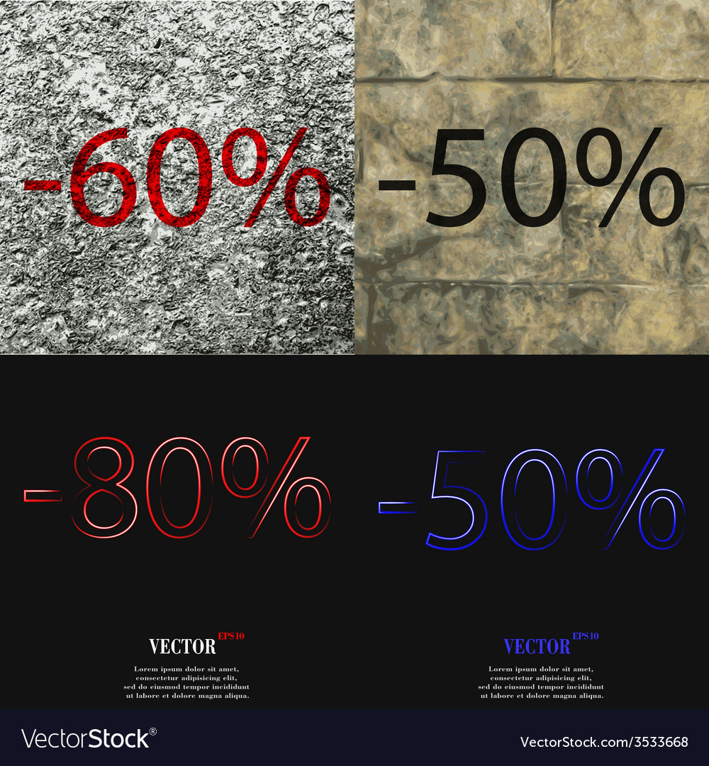 Set of abstract backgrounds and interest discount vector   Price: 1 Credit (USD $1)