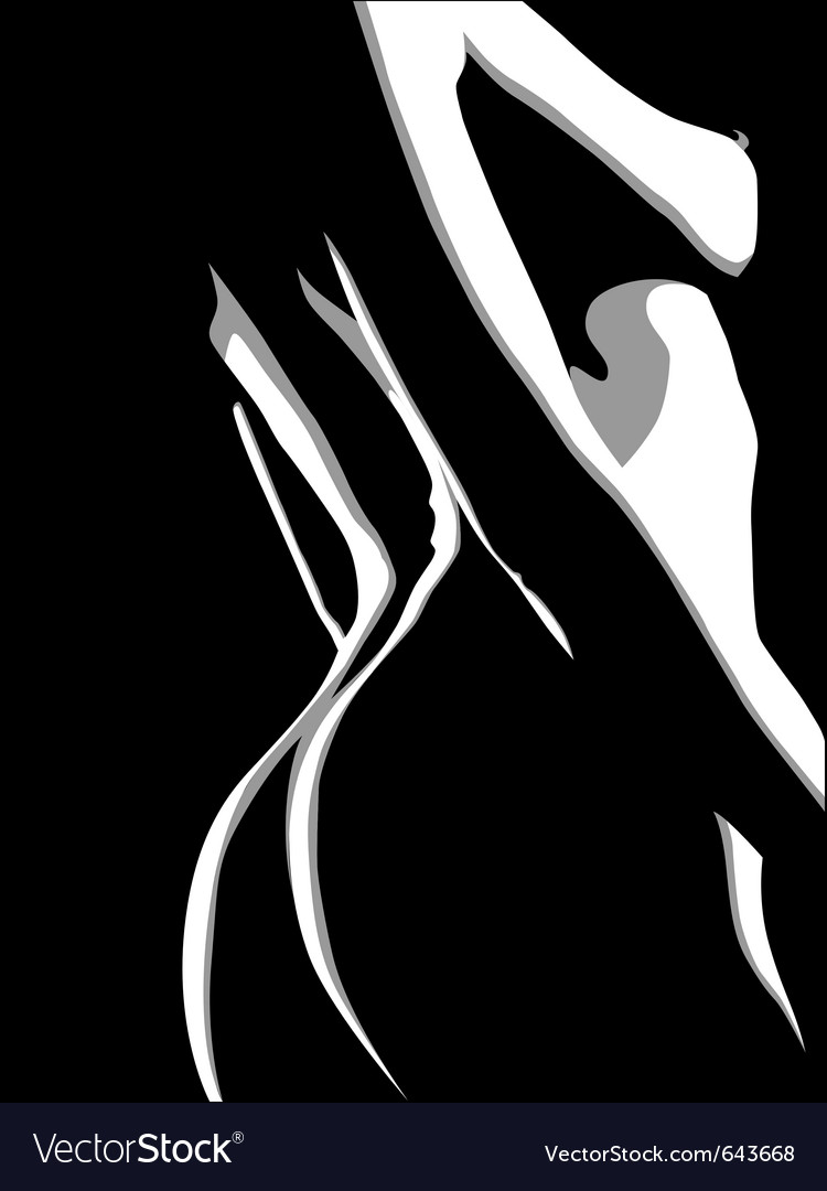 Silhouette girl vector | Price: 1 Credit (USD $1)