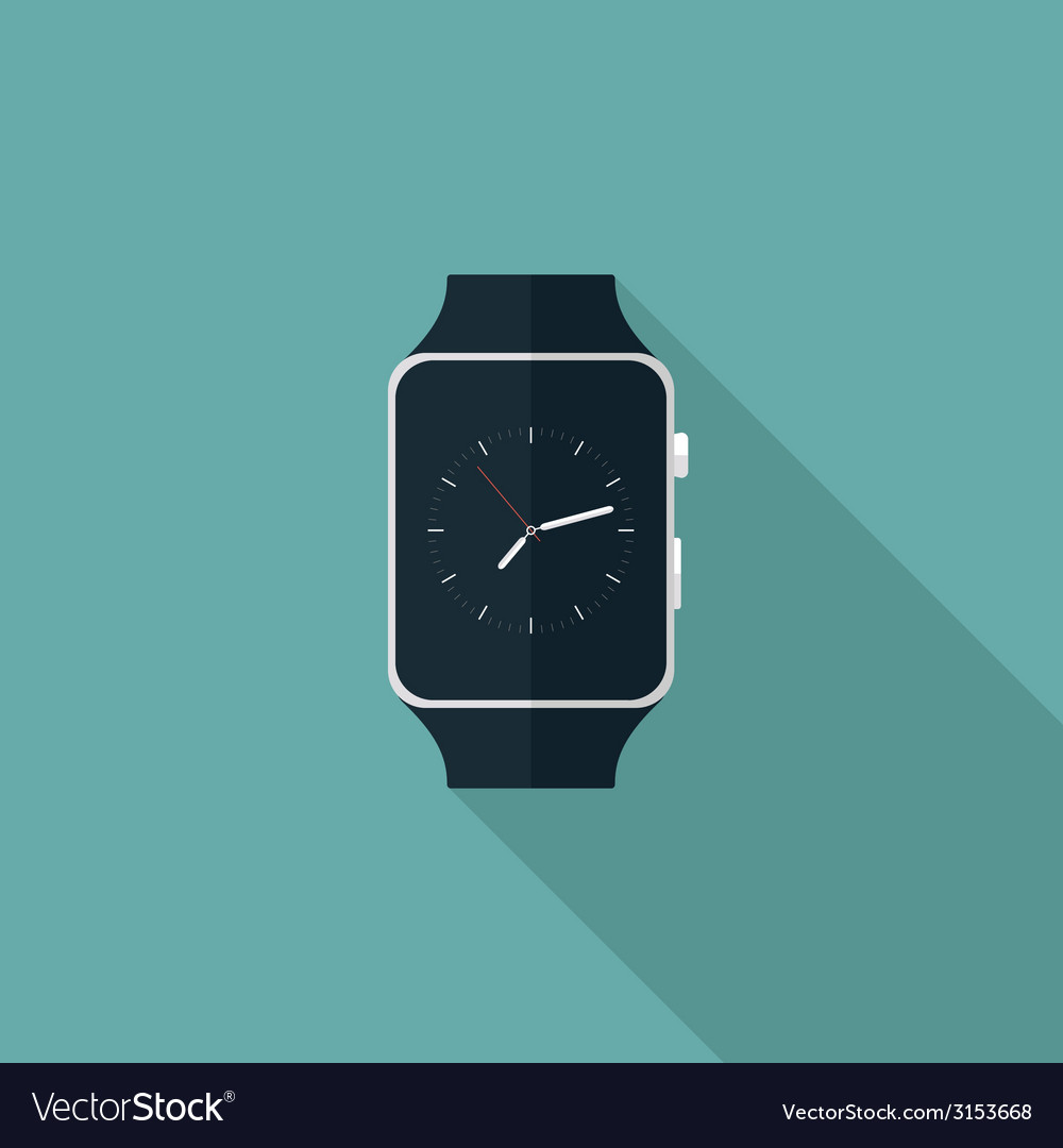 Smart watch flat icon vector | Price: 1 Credit (USD $1)